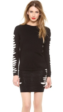 McQ - Alexander McQueen Slashed Knit Sweater