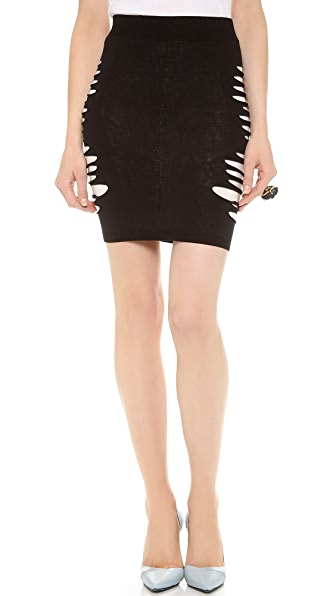 McQ - Alexander McQueen Slashed Knit Skirt