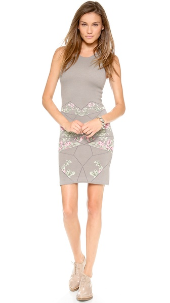 McQ - Alexander McQueen Rose Body Con Dress