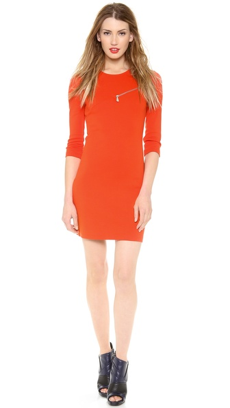 McQ - Alexander McQueen 3/4 Sleeve Zip Dress