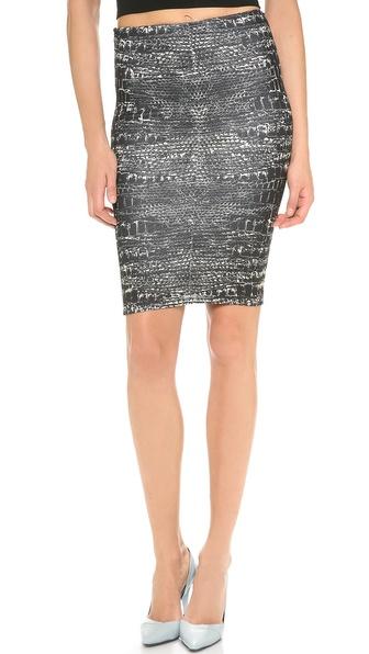 McQ - Alexander McQueen Print Contour Skirt
