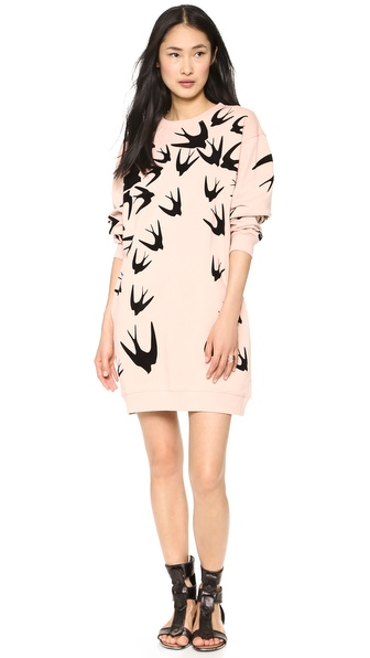 McQ - Alexander McQueen Sweatshirt Swallow Dress