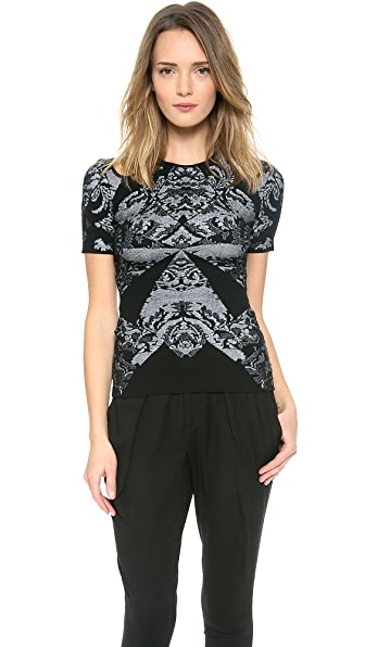 McQ - Alexander McQueen Lace Jacquard Top