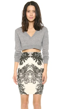 McQ - Alexander McQueen Layered V Neck Cropped Top