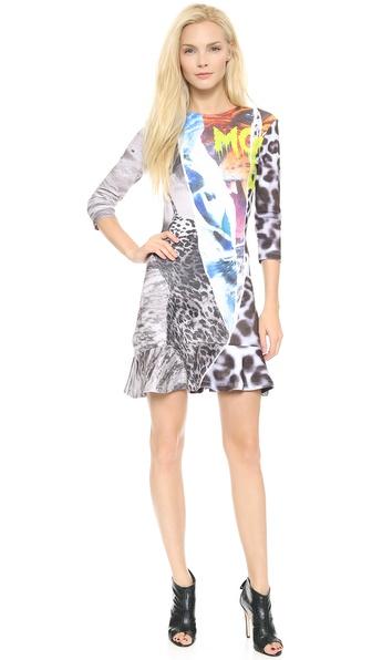 McQ - Alexander McQueen Ruffle 3/4 Sleeve Dress