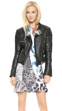 McQ - Alexander McQueen Cropped Leather Biker Jacket