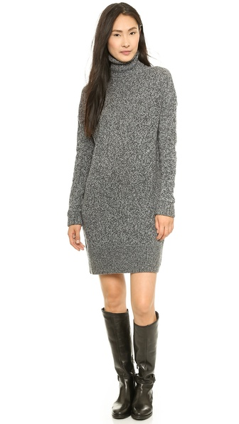 McQ - Alexander McQueen Oversized Lambswool High Neck Dress