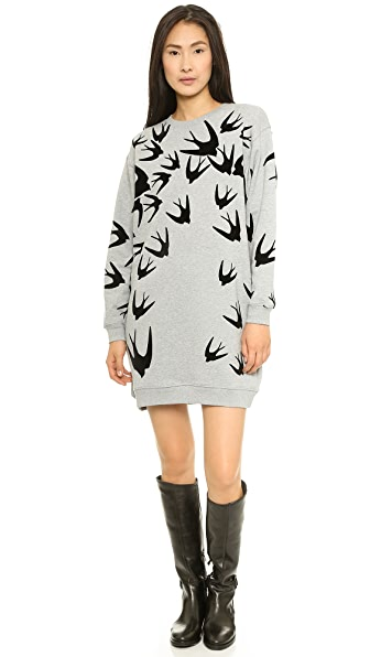 McQ - Alexander McQueen Flock Sweatshirt Dress