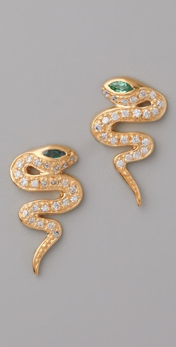 MELINDA MARIA Snake Earrings