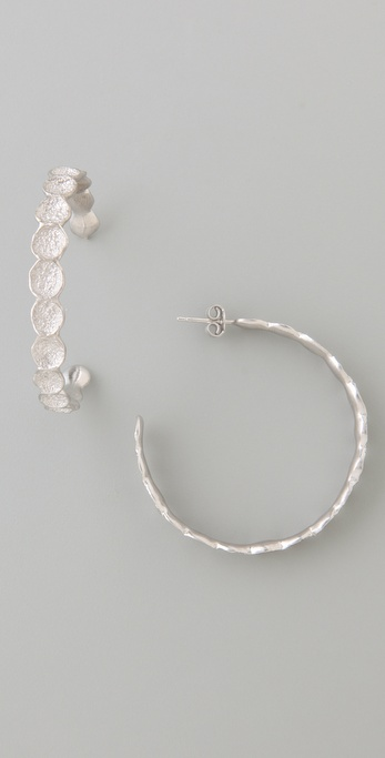 MELINDA MARIA Infinity Pod Hoop Earrings