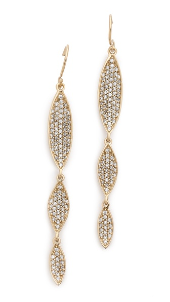 MELINDA MARIA Arianna Pave Earrings