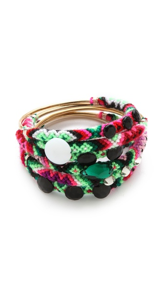 Mercedes Salazar Embellished Friendship Bangle Set