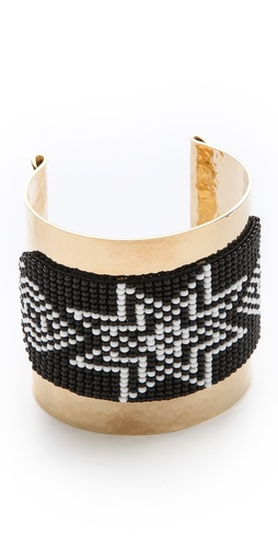 Mercedes Salazar Wide Beaded Cuff