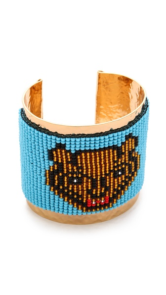 Mercedes Salazar Beaded Hammered Cuff
