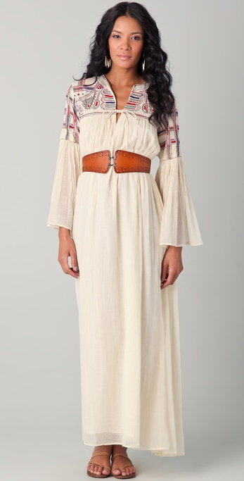 Mes Demoiselles Love Embroidered Caftan