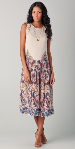 Mes Demoiselles Lila Printed Midi Dress
