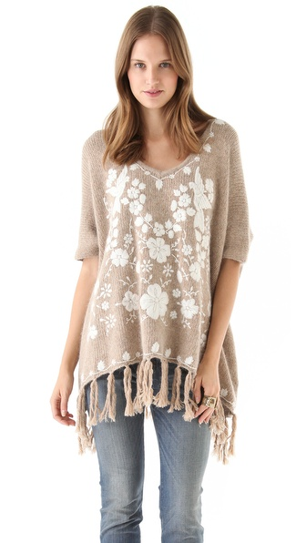 Mes Demoiselles Joyeuse Poncho Sweater