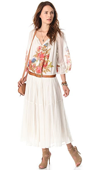 Mes Demoiselles Rose Long Sleeve Printed Dress