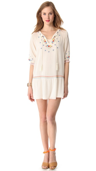 Mes Demoiselles Meril Embroidered Mini Dress