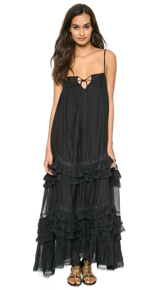 Mes Demoiselles Delicate Ruffle Maxi Dress