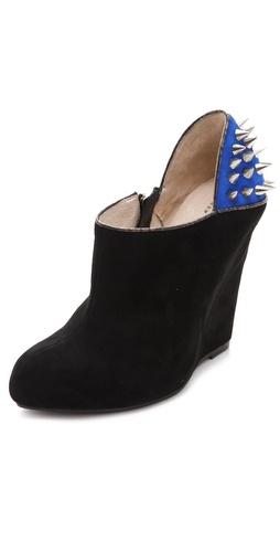 Messeca New York Studded Suede Wedge Booties at Shopbop.com