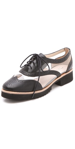 Shop Messeca New York Max Clear Inset Oxfords - Messeca New York online - Footwear,Womens,Footwear,Flats, at Lilychic Australian Clothes Online Store