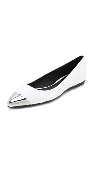 Messeca New York Jacqueline Metal Cap Toe Flats