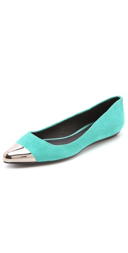 Messeca New York Jacqueline Cap Toe Suede Flats