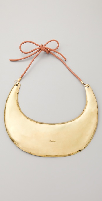 Mettle Neck Plate with Leather Tie