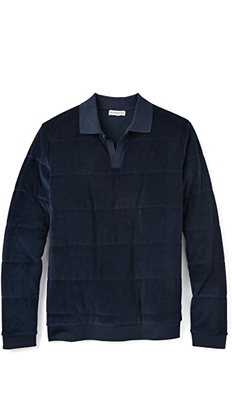 MELINDAGLOSS Velour Quilted Polo
