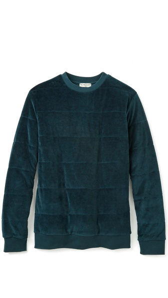 MELINDAGLOSS Velour Quilted Pullover