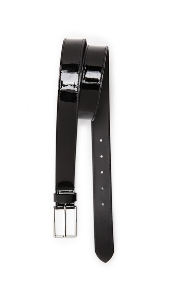 MELINDAGLOSS Patent Leather Belt