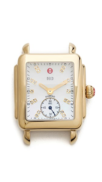 MICHELE Deco 16 Diamond Dial Watch