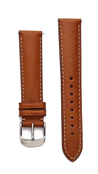 MICHELE 18mm Saddle Watch Strap