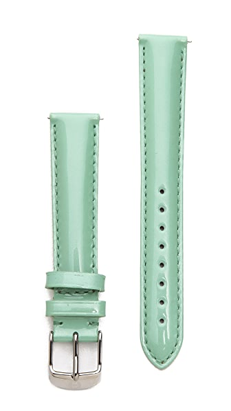 MICHELE 16mm Patent Leather Watch Strap