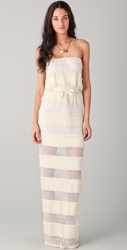 Miguelina Rhoda Tiered Lace Dress