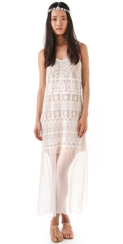 Miguelina Odette Lace Mesh Dress