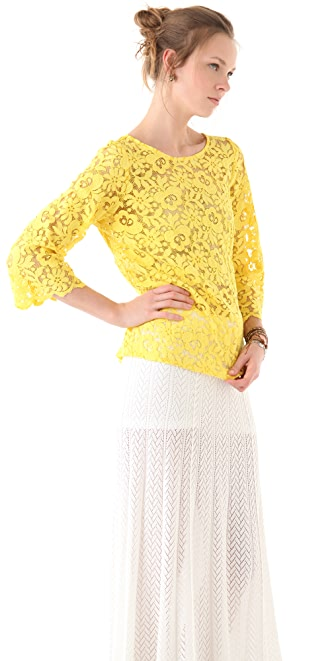 Miguelina Bailey Rose Lace Top