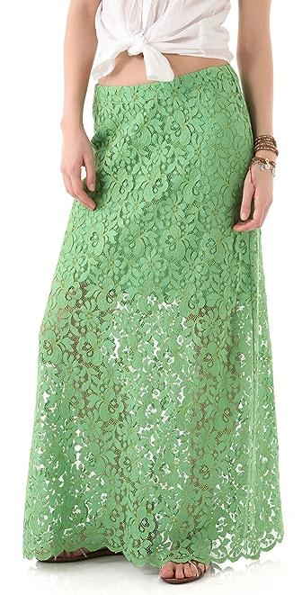 Miguelina Edmy Rose Lace Maxi Skirt