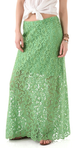 Miguelina Edmy Rose Lace Maxi Skirt