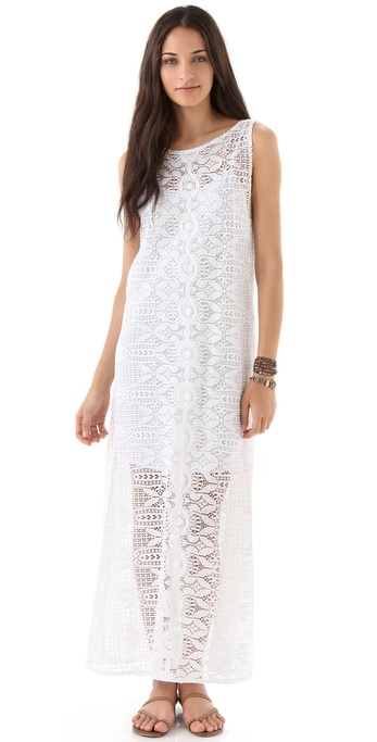 Miguelina Leslie Rio Lace Maxi Dress