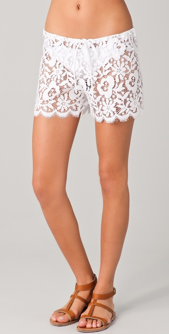 Miguelina Jaya Lace Cover Up Shorts