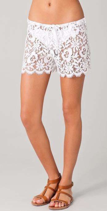 Miguelina Jaya Lace Cover Up Shorts