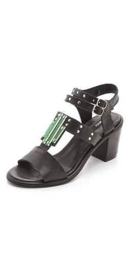 Miista Maggie Glass Detail Sandals