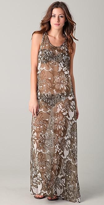 MIKOH French Riviera Silk Maxi Dress