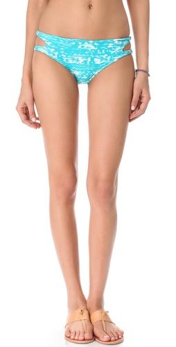 MIKOH SWIMWEAR Todos Santos Cutout Bikini Bottoms