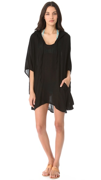 MIKOH SWIMWEAR Cardiff Hooded Caftan Cover Up