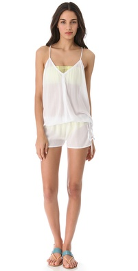 MIKOH SWIMWEAR Jaws V Neck Romper