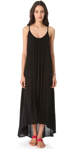 MIKOH SWIMWEAR Cover Up Maxi Dress with Low Back