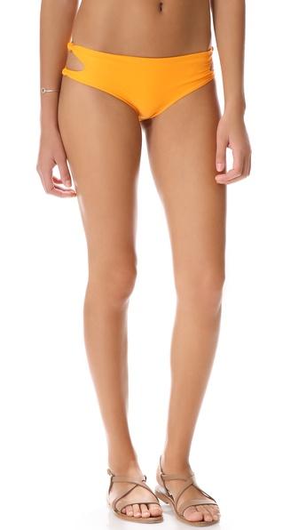 MIKOH SWIMWEAR Todos Santos Cutout Knot Bikini Bottoms